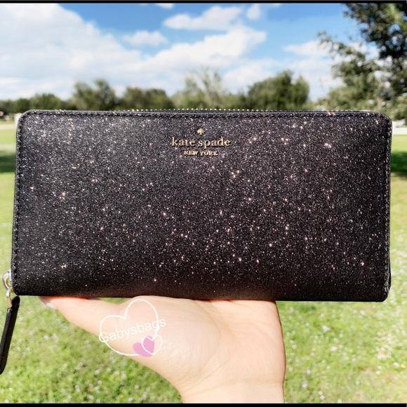 kate spade Handbags - Kate Spade Glitter Large Wallet Zip Around